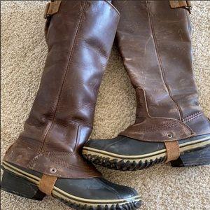 SOREL slimback riding boot (dark brown) 7.5